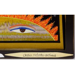 """View 4: Chris Roberts-Antieau (American, b.1950) """"Feeling Sorry for Pluto"""" Tapestry"""