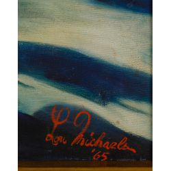 View 3: Lou Michaels (American, 20th century) Oil on Canvas