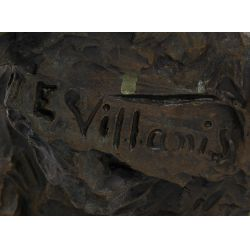 """View 5: (After) Emmanuel Villanis (French, 1858-1914) """"Fille de Boheme"""" Bronze Bust"""