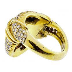 View 2: 18k Gold, Yellow Tourmaline and Diamond Ring