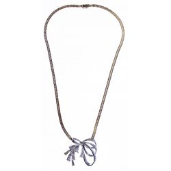 View 2: 14k White and Yellow Gold and Diamond Necklace