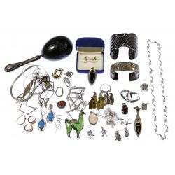 View 4: Mixed Gold and Sterling Silver Jewelry Assortment