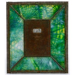 """View 2: Tiffany Studios """"Pine Needle"""" Pattern Bronze Picture Frame"""