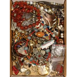 View 2: Sterling Silver, Peking Glass and Costume Jewelry Assortment