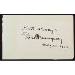 View 2: Ernest Hemingway Autograph