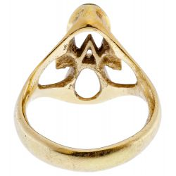 View 3: 18k Yellow Gold Ankh Ring