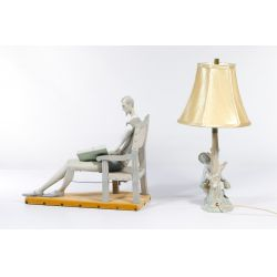 View 2: Lladro Figurine and Lamp
