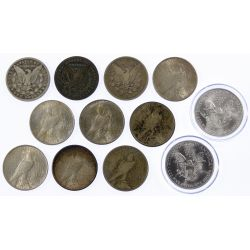 View 2: Morgan, Peace and Silver Eagle $1 Assortment