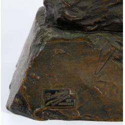 """View 6: (After) Emmanuel Villanis (French, 1858-1914) """"Fille de Boheme"""" Bronze Bust"""