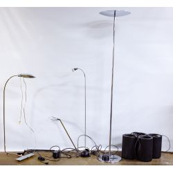 View 2: Cedric Hartman Floor and Chrome Lamp Assortment