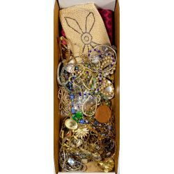 View 2: 10k Yellow Gold, Sterling Silver and Costume Jewelry Assortment