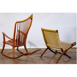 View 2: Dave Hentzel Rocking Chair and Danish Modern Style Folding Chair