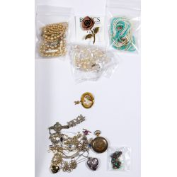 View 3: 10k Yellow Gold, Sterling Silver and Costume Jewelry Assortment