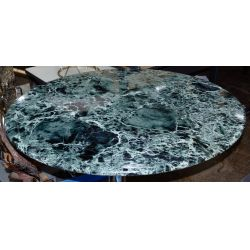 View 3: Marble and Chrome Base Dining Table