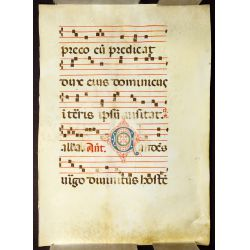 View 2: Illuminated Antiphonal Vellum Hymnal Sheets