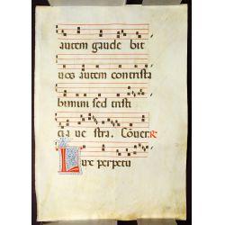 View 8: Illuminated Antiphonal Vellum Hymnal Sheets