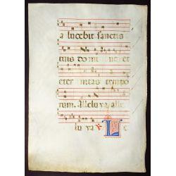 View 9: Illuminated Antiphonal Vellum Hymnal Sheets