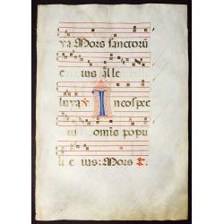 View 5: Illuminated Antiphonal Vellum Hymnal Sheets