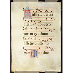 View 4: Illuminated Antiphonal Vellum Hymnal Sheets