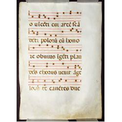 View 7: Illuminated Antiphonal Vellum Hymnal Sheets