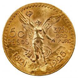 Mexico: 1925 50 Peso Gold