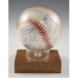 View 2: 1991 Chicago Cubs Autographed Baseball