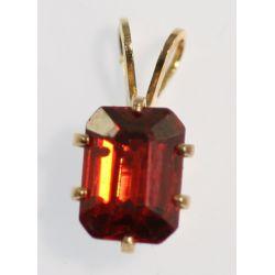 View 2: Pair of Pendants - Gold & Semi-precious Stones