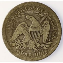 View 2: 1853 Seated Quarter (Arrows & Rays)