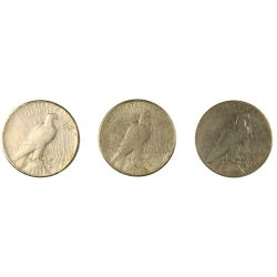 View 2: 1924-S, 1928-S, 1934-S Peace Dollars