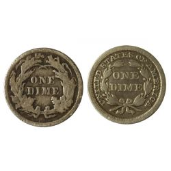 View 2: Seated Dimes - 1853 & 1891