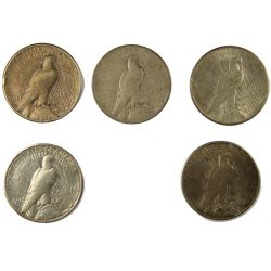 View 2: (5) Peace Dollars