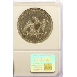 View 2: 1849 Seated Dollar AU-53 (NGC)