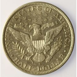 View 2: 1906-S Barber Half Dollar