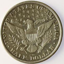 View 2: 1915-D Barber Half Dollar