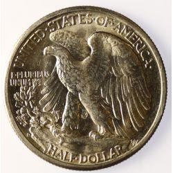 View 2: 1945-D Walking Liberty Half Dollar
