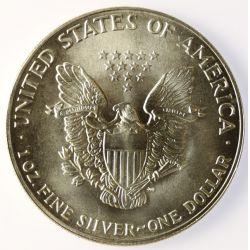 View 2: 1987 American Eagle Silver Dollar