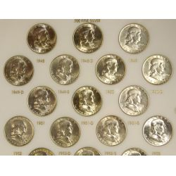 View 3: Franklin Half Dollars Complete Set (1948-1963)