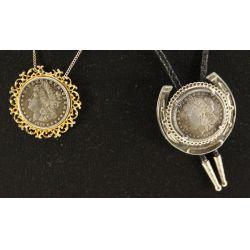 View 2: 1882 & 1884 Morgan Dollar Necklaces