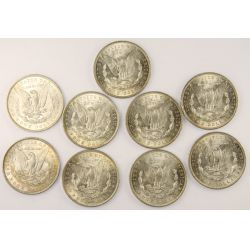 View 2: 1888 Morgan Silver Dollars (9pcs.)