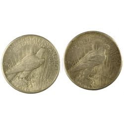 View 2: 1925 & 1926 Peace Silver Dollars