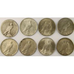 View 2: 1923 Peace Silver Dollars (8pcs.)