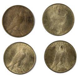 View 2: 1923 Peace Silver Dollars (4pcs.)