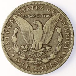 View 2: 1895-O Morgan Silver Dollar