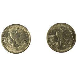 View 2: 1941-D & 1945-P Walking Liberty Half Dollars