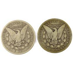 View 2: 1892-O & 1892-S Morgan Silver Dollars