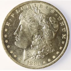 View 3: 1883-O Morgan Silver Dollar- Bright White Original!