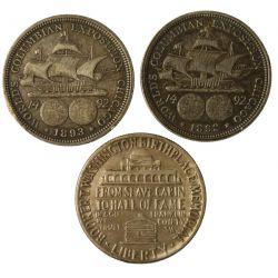 View 2: 1892 & 1893 Columbian & 1946 Washington Half Dollars