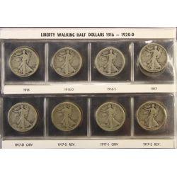 View 13: Walking Liberty Half Dollars (1916-1947 Complete Set)