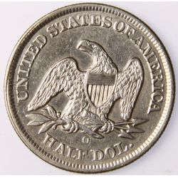 View 2: 1855-O Seated Half Dollar