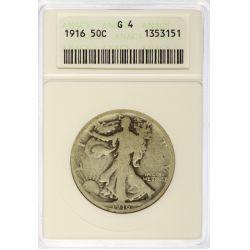 View 2: 1916-PDS & 1921-PDS Walking Liberty Half Dollars G4 (ANACS & PCGS)